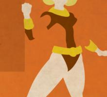 Terra - Superhero Minimalist Alphabet Print Art Sticker