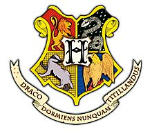 Hogwarts School Of Witchcraft and Wizadry Crest Photographic Print