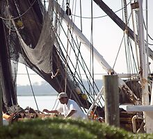 St. Marys, Georgia - Detail of boat at the dock by BCallahan