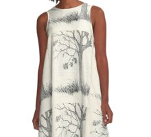 Tree in Autumn  A-Line Dress