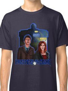 Partners In Crime Doctor Who Tenth Doctor Donna Noble David Tennant Catherine Tate #DTfan4life  Classic T-Shirt