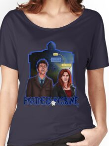 Partners In Crime Doctor Who Tenth Doctor Donna Noble David Tennant Catherine Tate #DTfan4life  Women's Relaxed Fit T-Shirt