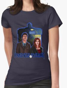 Partners In Crime Doctor Who Tenth Doctor Donna Noble David Tennant Catherine Tate #DTfan4life  Womens Fitted T-Shirt