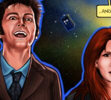 Partners In Crime Doctor Who Tenth Doctor Donna Noble David Tennant Catherine Tate #DTfan4life  Sticker