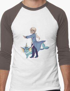 Blanche Pokemon Go Men's Baseball ¾ T-Shirt