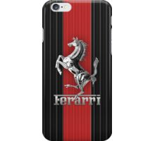 Ferrari Lover #3 [Silver - Red] iPhone Case/Skin