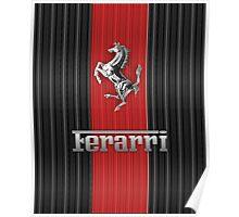 Ferrari Lover #3 [Silver - Red] Poster