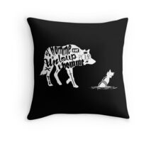 Man is a wolf to man Throw Pillow