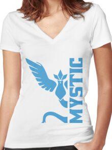 Vertical Team Mystic Women's Fitted V-Neck T-Shirt