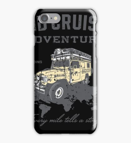 Every Mile Tells a Story - grey print iPhone Case/Skin