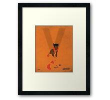 Vixen - Superhero Minimalist Alphabet Print Art Framed Print
