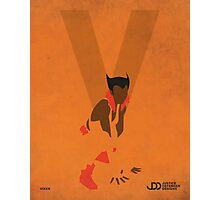 Vixen - Superhero Minimalist Alphabet Print Art Photographic Print