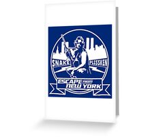 Snake Plissken (Escape from New York) Badge Transparent Greeting Card