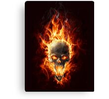 Skull in fire Canvas Print