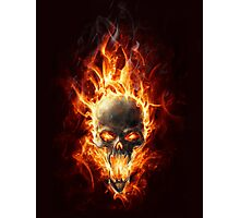 Skull in fire Photographic Print