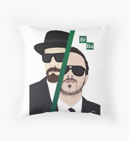 BrBa (Breaking Bad) Throw Pillow