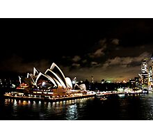 Opera House At Night Photographic Print
