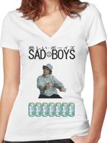 Sad Boys Yung Lean  Women's Fitted V-Neck T-Shirt
