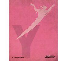 Yz the Thunderbolt - Superhero Minimalist Alphabet Print Art Photographic Print