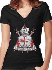 maltese 6 Women's Fitted V-Neck T-Shirt