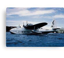 Short Sandringham Flying Boat on the River Thames, VH-BRC Canvas Print