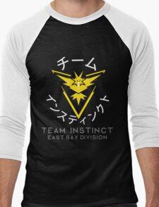 TEAM INSTINCT- EBD (WHITE TEXT) Men's Baseball ¾ T-Shirt