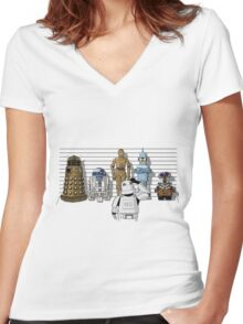 are these the droids you Women's Fitted V-Neck T-Shirt