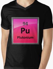 Plutonium Periodic Table Element Symbol Mens V-Neck T-Shirt