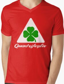 Quadrifoglio Alfa Fill Graphic Print Mens V-Neck T-Shirt