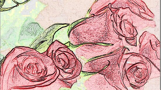 Roses Card sketch effect by ChrisNeal