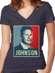 Gary Johnson 2016 Women's Fitted V-Neck T-Shirt