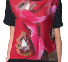 Red Tulips Chiffon Top