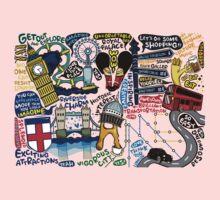 I Love London 578 Kids Tee