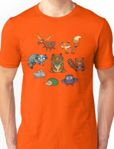 Woodland annimals Unisex T-Shirt