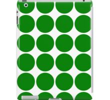 Green Polka Dots iPad Case/Skin
