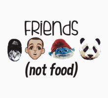 Friends Not Food  One Piece - Short Sleeve