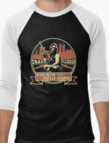 Snake Plissken (Escape from New York) Badge Vintage Men's Baseball ¾ T-Shirt