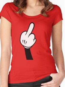 Funny middle finger Women's Fitted Scoop T-Shirt