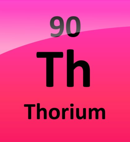 Thorium Periodic Table Element Symbol Sticker