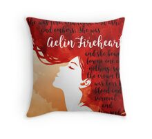 Aelin Fireheart Quote Throw Pillow