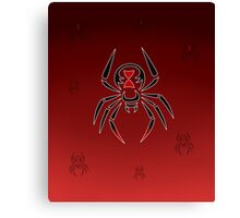 Black Widow Tribal Design Canvas Print
