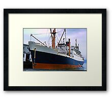 RMS Newfoundland, Ocean Liner Ship in Halifax Framed Print