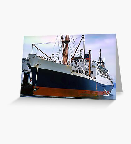 RMS Newfoundland, Ocean Liner Ship in Halifax Greeting Card