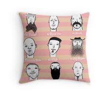 Beards of Australia Throw Pillow