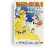 Vintage Jules Cheret Benzo Moteuur Canvas Print