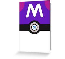 Team Mystic Master Ball (Pokemon Go) Greeting Card