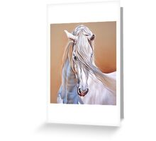 """Andalusian stallion"" - close-up Greeting Card"