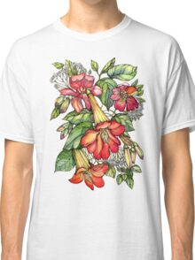 Red Trumpet Vine flowers. Classic T-Shirt