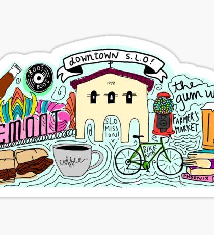 THE Downtown SLO Geofilter Sticker Sticker