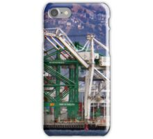 Containerhsips at the Port of Oakland California iPhone Case/Skin